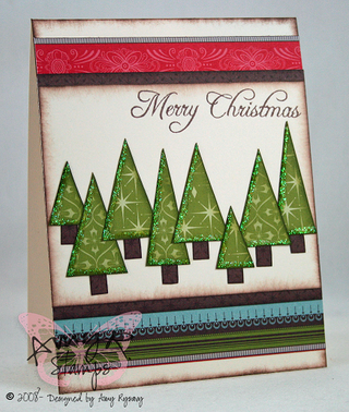 AmyR Stamps Christmas Sentiments Merry Christmas Card by AmyR