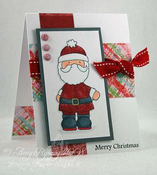CC Designs North Pole Santa Card by AmyR