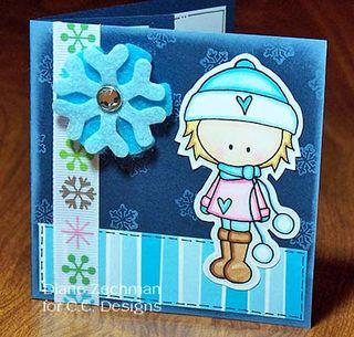 Snowbunnies gift card diane zechman