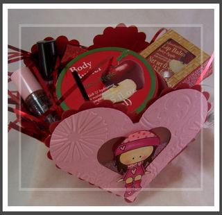 Heart box of goodies