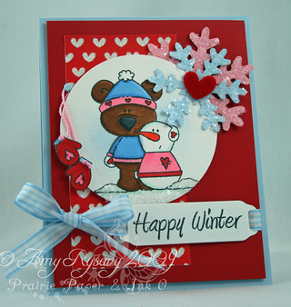 CCD Winter Bear Snowflake Challenge Card by AmyR