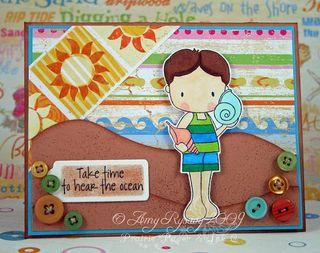 CCD Sugarplums Beach Hear the Ocean card by AmyR