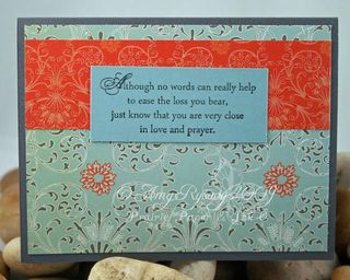 AmyR Stamps Sympathy Praying For You Inside by AmyR