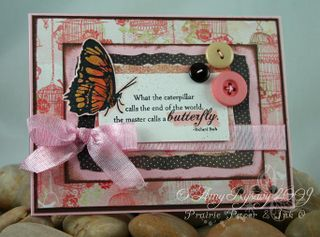 AmyR Stamps Butterflies Card 1 by AmyR