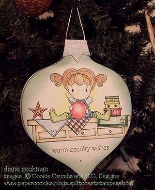 Country shelf ornament card diane zechman