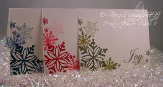 AmyR Stamps Snowflake Card Trio by AmyR