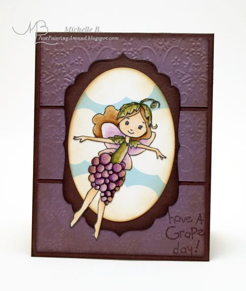 Michelle Feb 07 - Vintage Grape Fairy with Glossy Accents