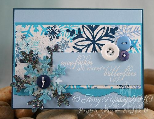 AmyR Stamps Snowflakes are Butterflies Card by AmyR