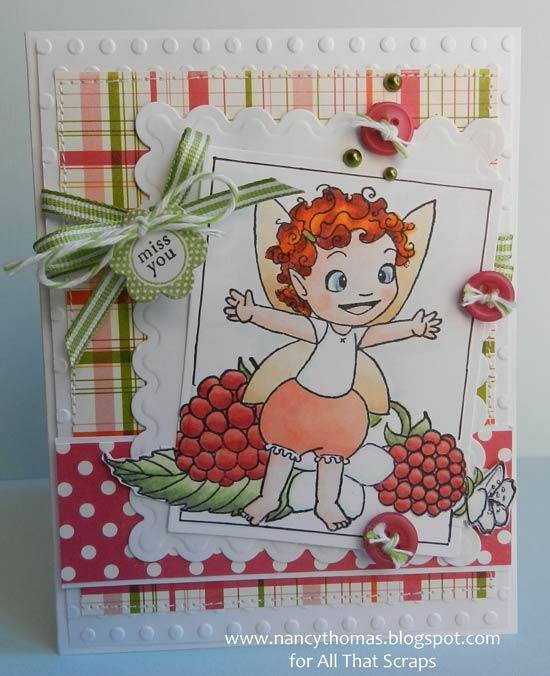Nancy Thomas Flitter Friend Raspberry