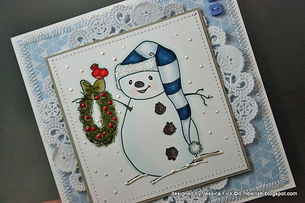 JessFick christmas wreath snowman