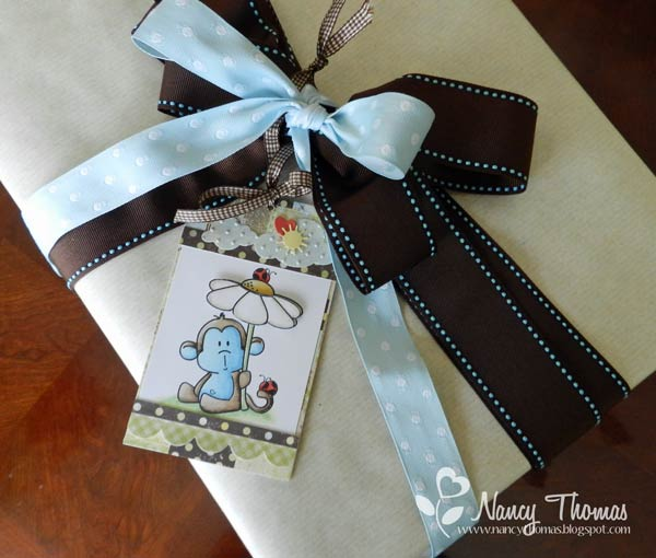 Nancy Thomas Baby Boy Gift Tag