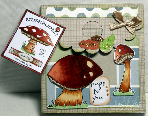 02-02-12 Acorn and Leaves die and mushroom stamps and logo